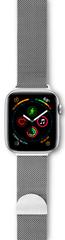 EPICO Milanese Band pašček za Apple Watch 38/40 mm, srebrn
