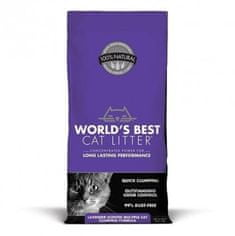 World's Best Lavender 12,7 kg podstielka hrudkujúca s vôňou levandule
