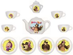 Smoby Maša in medvec porcelanast komplet za kavo
