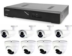Avtech Zestaw kamer 1x NVR AVH1109, 4x 2MPX Motorzoom IP Dome kamera DGM2443SVSE i 4x 2MPX Motorzoom IP Bullet kamera DGM2643SV + 8x kabel UTP 1x RJ45 - 1x RJ45 Cat5e 15m!