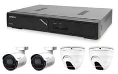 Avtech Zestaw kamer 1x NVR AVH1104, 2x 2MPX IP Bullet kamera DGM2103SV i 2x 2MPX IP Dome kamera DGM2203SVSE + 4x kabel UTP 1x RJ45 - 1x RJ45 Cat5e 15m!