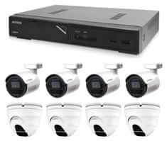 Avtech Zestaw kamer 1x NVR AVH1109, 4x 2MPX IP Bullet kamera DGM2103SV i 4x 2MPX IP Dome kamera DGM2203SVSE + 8x kabel UTP 1x RJ45 - 1x RJ45 Cat5e 15m!