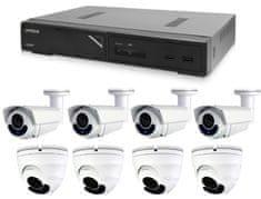 Avtech Zestaw kamer 1x NVR AVH1104, 2x 5MPX IP Dome kamera DGM5406ASE i 2x 5MPX IP Bullet kamera DGM5606 + 4x kabel UTP 1x RJ45 - 1x RJ45 Cat5e 15m!