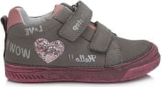 D-D-step 040-719B dekliški celoletni čevlji, sivi, 34 - Odprta embalaža