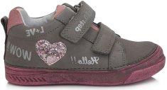 D-D-step egész évben viselhető cipő lányoknak 040-719B, 35, szürke