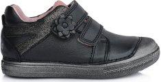D-D-step egész évben viselhető cipő lányoknak 049-811A, 34, fekete