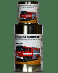 BARVY NA TRAKTORY HASIČSKÁ TECHNIKA originální 2-K PUR barvy, SET s tužidlem lesklé - 1,25kg SET, RAL 9003 (bílá)