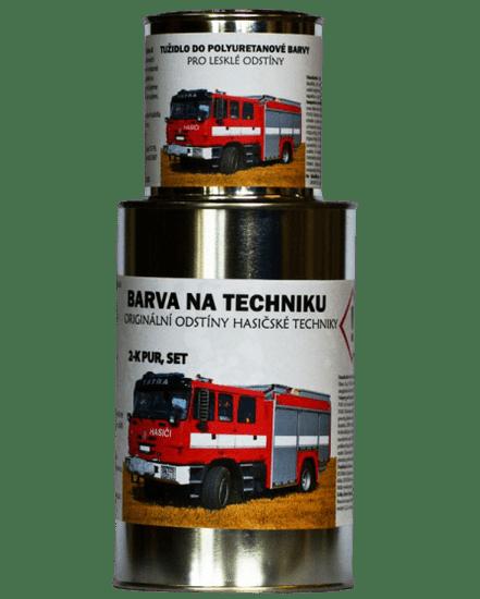 BARVY NA TRAKTORY HASIČSKÁ TECHNIKA originální 2-K PUR barvy, SET s tužidlem lesklé