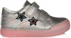 D-D-step lány fluoreszkáló cipő 068-324, 25, szürke