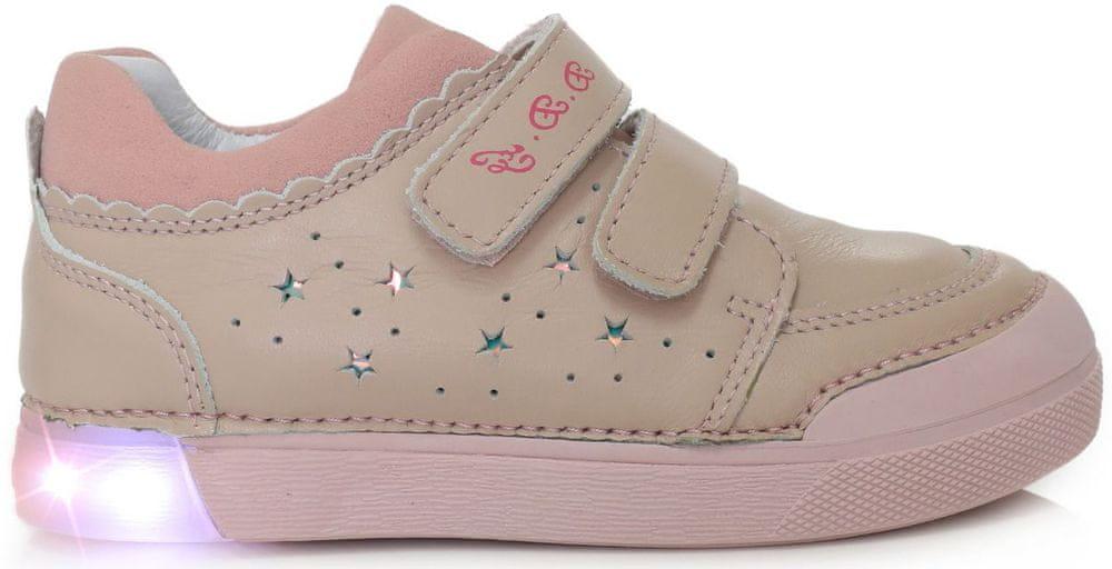 D-D-step dívčí svítící obuv 068-937A 26 růžová