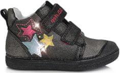 D-D-step dekliški celoletni čevlji 049-990, utripajoči kamenčki, 25, črni - Odprta embalaža