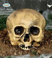 Dekorácie plastová lebka - 20 cm - HALLOWEEN