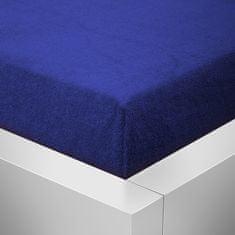 Povlečeme vše Froté prostěradlo Top Tmavě Modrá 180x200 cm