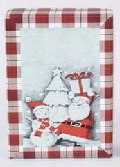 DUE ESSE Komplet 3 božičnih škatel, 3 velikosti snežni mož