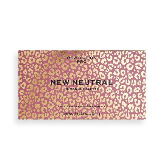 Revolution PRO Szemhéjfesték paletta New Neutral Romance 18 g