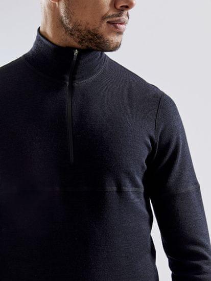 Craft moška dolga majica Merino 240 Zip Black/Asphalt