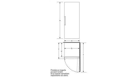 Bosch GSN58AWEV prostostoječi zamrzovalnik