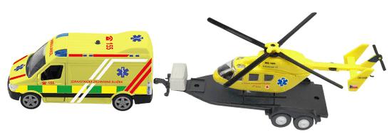 MaDe Reševalno vozilo in helikopter s svetlobnimi in zvočnimi efekti