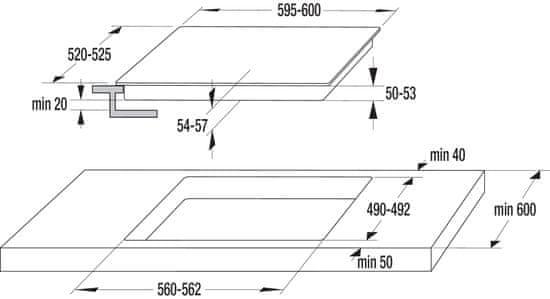 Gorenje płyta elektryczna ze szkła ceramicznego CT43SC