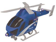 MaDe Policajný vrtuľník je na batérie so svetlom a zvukom.