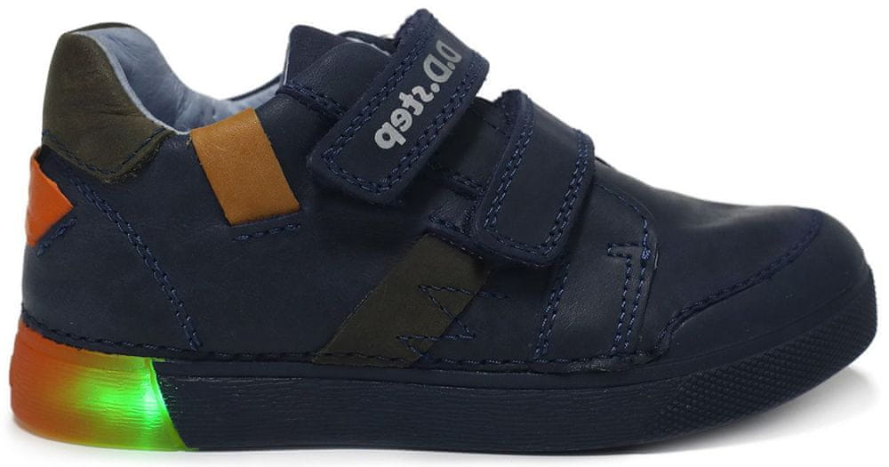 D-D-step chlapecká svítící obuv 068-738A 29 modrá