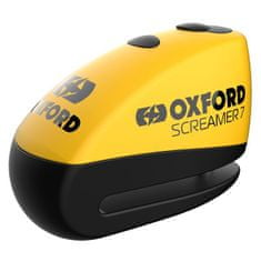 Oxford Screamer 7 ključavnica za disk z alarmom rumeno-črna