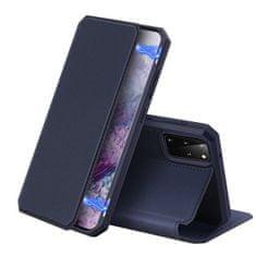 Dux Ducis Skin X usnjeni flip ovitek za Samsung Galaxy S20 Plus, modra