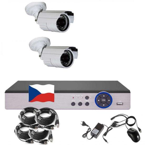 Eonboom 4CH 5MPx AHD kamerový set 2B CCTV s DVR LAN a 2x venkovní bullet kamerou