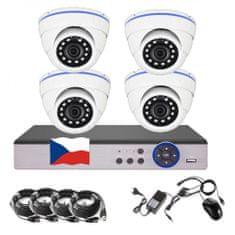 Eonboom 4CH 5MPx AHD kamerový set 4D CCTV s DVR s LAN a 4x venkovní dome kamera