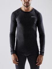 Craft Core Wool Merino Black Melang moški set, XS