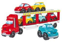 Ecoiffier Abrick odtahové vozidlo se 6 auty