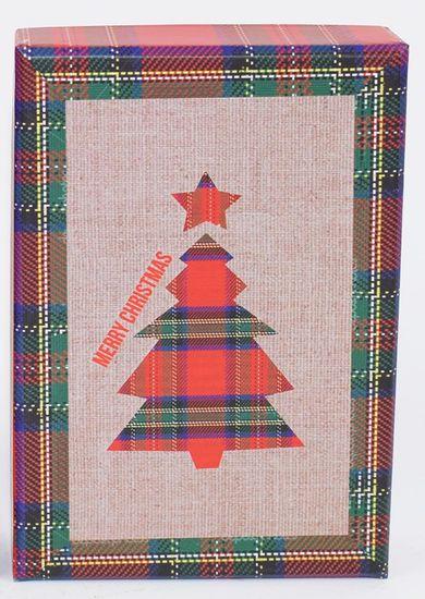 DUE ESSE Komplet 3 božičnih škatel, 3 velikosti Drevesa