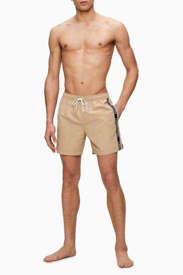 Calvin Klein bež moške kopalke Medium Drawstring - XL