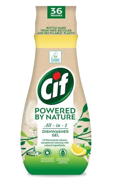 Cif gel do myčky Powered by Nature 36 dávek
