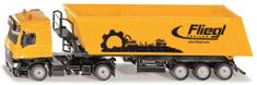 SIKU rumena tovornjak s prekucnikom, 1:50