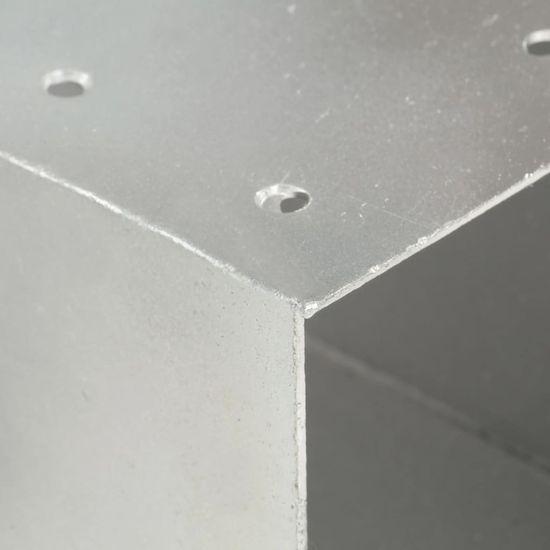 slomart Spojniki za stebre 4 kosi X oblike pocinkana kovina 91x91 mm