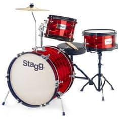 Stagg TIM JR 3 / 16B RD, detská bicia sada, červená