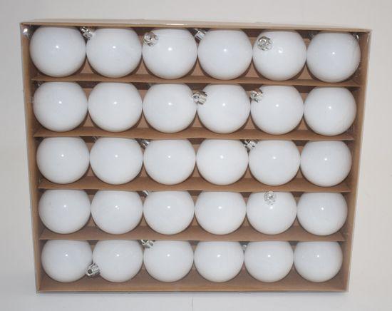 DUE ESSE Set 30 božičnih belih kroglic, Ø 5 cm