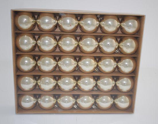 DUE ESSE Set 30 ks vánočních zlatých koulí, Ø 5 cm