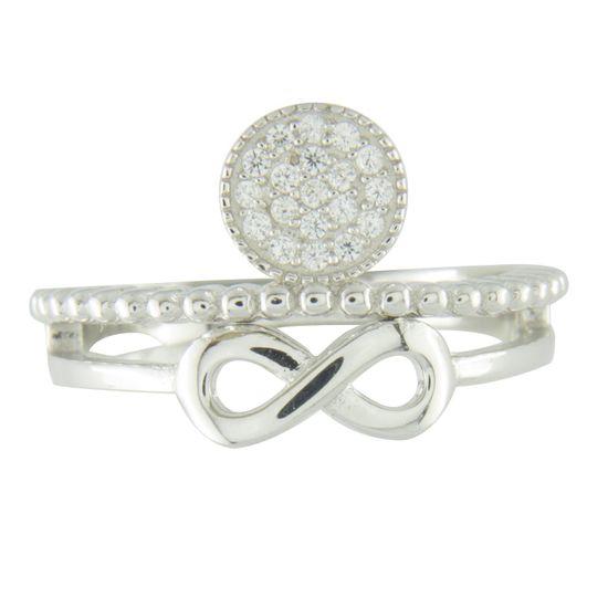 Amiatex Strieborný prsteň 67174, 55