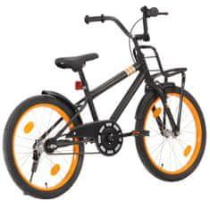 Dětské kolo s předním nosičem 20'' černo-oranžové