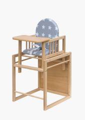 COSING krzesełko do karmienia bukowe Viktoria - Gwiazdy