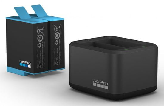 GoPro Dual Battery Charger + Battery (HERO10 & HERO9 Black) (ADDBD-001-EU)