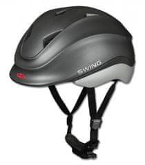 Swing Dětská jezdecká helma SWING K4 černá s motýlem, Velikost 45-53 cm