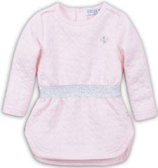 Dirkje dievčenské šaty so strieborným opaskom, 98, ružová