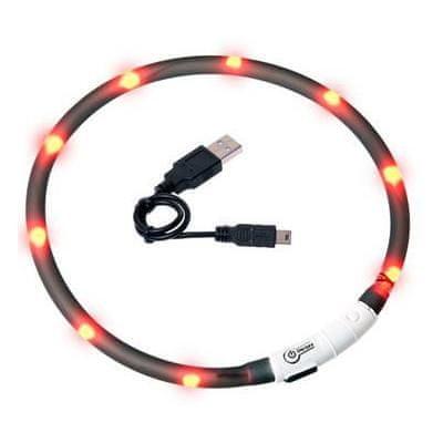 Karlie LED světelný obojek pro kočky černý 20 - 35 cm