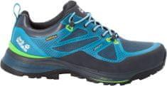 Jack Wolfskin pánská turistická obuv Force Striker Texapore Low 39.5 modrá/zelená