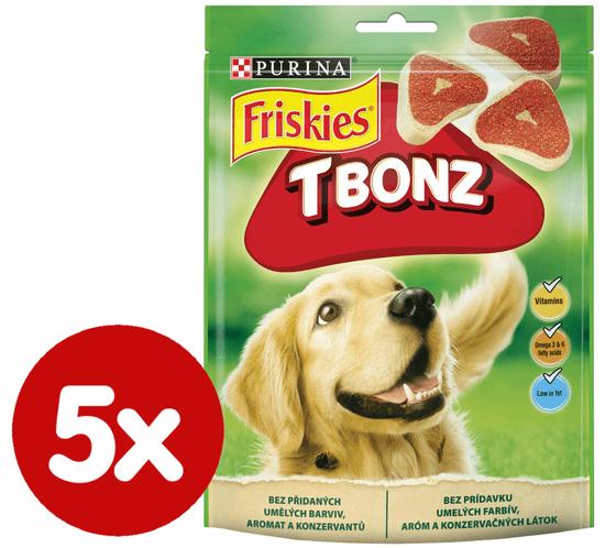 Friskies žvečljivi priboljški T-Bonz, 5 x 150g