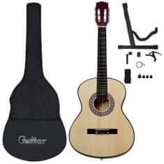 """shumee 12-dielna klasická gitarová sada pre začiatočníkov 4/4 39"""""""