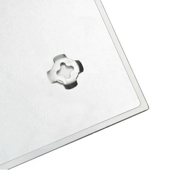 shumee Nástěnná magnetická tabule skleněná 80 x 60 cm